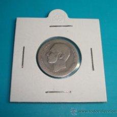 Monedas de España: MONEDA UNA PESETA ESPAÑA 1882 MSM, ALFONSO XII PLATA. Lote 36721954