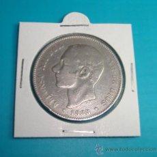 Monedas de España: MONEDA DE PLATA CINCO PESETAS ESPAÑA 1885 MSM ALFONSO XII. Lote 36732260