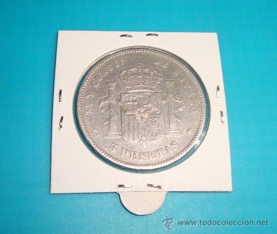 Monedas de España: MONEDA de plata CINCO PESETAS ESPAÑA 1885 MSM ALFONSO XII - Foto 2 - 36732260