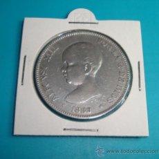 Monedas de España: MONEDA DE PLATA DE CINCO PESETAS DE ESPAÑA 1889 MPM ALFONSO XIII. Lote 36732853