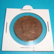 Monedas de España: MONEDA 10 CENTIMOS, ESPAÑA 1878, OM, ALFONSO XII, COBRE. Lote 36818923