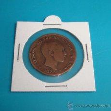 Monedas de España: MONEDA 10 CENTIMOS ESPAÑA 1877, OM, ALFONSO XII, COBRE. Lote 36819178