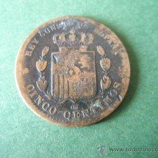 Monedas de España: *MONEDA DE ESPAÑA-CINCO CENTIMOS-1878-COBRE-21 MM.D-.. Lote 36855970