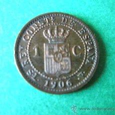 Monedas de España: -MONEDA DE ESPAÑA-1 CÉNTIMO-ALFONSO XIII-1906*6-COBRE-.. Lote 36910702
