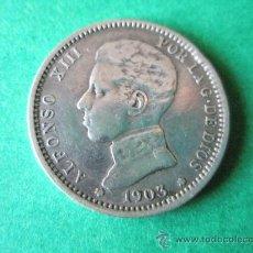 Monedas de España: -MONEDA DE ESPAÑA-1 PESETA-PLATA-1903*03-ALFONSO XIII-SMV-.. Lote 36911639