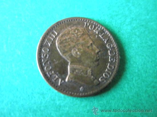 Monedas de España: -MONEDA DE ESPAÑA-1 CÉNTIMO-ALFONSO XIII-1906*6-COBRE-. - Foto 2 - 36910702