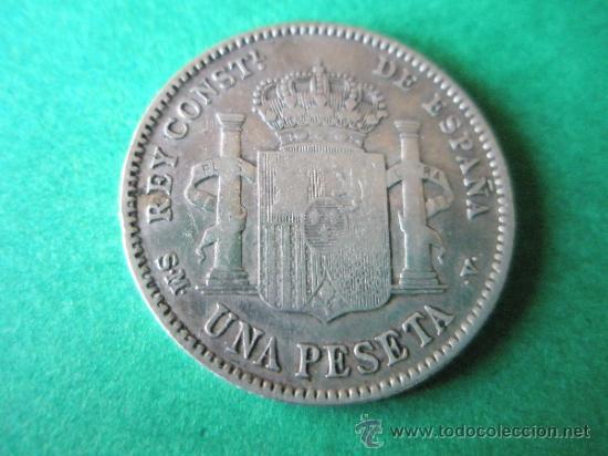 Monedas de España: -MONEDA DE ESPAÑA-1 PESETA-PLATA-1903*03-ALFONSO XIII-SMV-. - Foto 2 - 36911639