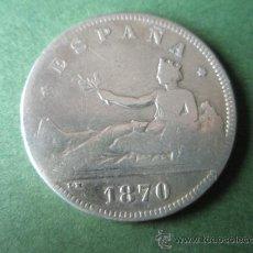 Monedas de España: -MONEDA DE ESPAÑA-2 PESETAS-1870-PLATA-.. Lote 36996277