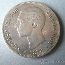 Monedas de España: MONEDA DE ESPAÑA-5 PESETAS-1877*78-ALFONSO XII-.. Lote 37016695