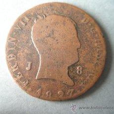 Monedas de España: -MONEDA DE ESPAÑA-8 MARAVEDIES-FERNANDO VII-1827-JUBIA-COBRE-.. Lote 37018005