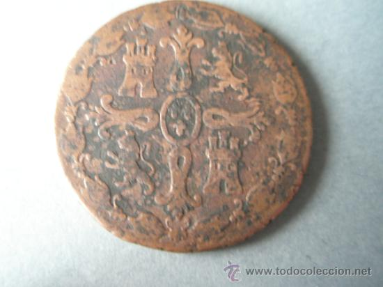 Monedas de España: -MONEDA DE ESPAÑA-8 MARAVEDIES-FERNANDO VII-1827-JUBIA-COBRE-. - Foto 2 - 37018005