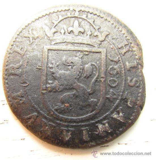 Monedas de España: 8 MARAVEDÍES 1604, FELIPE III, SEGOVIA. - Foto 3 - 36973701