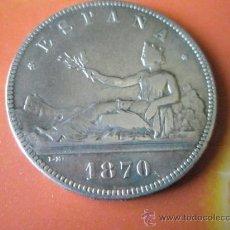 Monedas de España: -MONEDA DE ESPAÑA-5 PESETAS-1870*70-PLATA-SN.M-33 MM.D-.. Lote 37073583