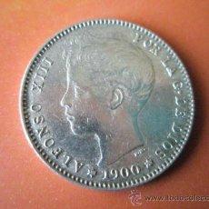 Monedas de España: AªMONEDA-ESPAÑA-1 PESETA ALFONSO XIII-1900*00-PLATA-24 MM.D-BUEN ESTADO-VER FOTOS... Lote 37074935