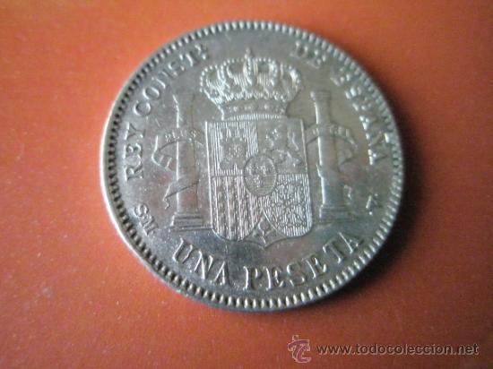 Monedas de España: AªMONEDA-ESPAÑA-1 PESETA ALFONSO XIII-1900*00-PLATA-24 mm.D-BUEN ESTADO-VER FOTOS.. - Foto 4 - 37074935