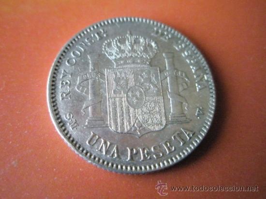 Monedas de España: AªMONEDA-ESPAÑA-1 PESETA ALFONSO XIII-1900*00-PLATA-24 mm.D-BUEN ESTADO-VER FOTOS.. - Foto 3 - 37074935