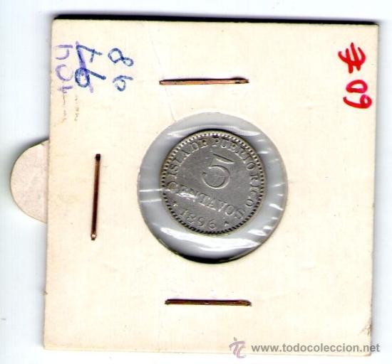 5 CENTAVOS 1896 ISLA DE PUERTO RICO (Numismática - España Modernas y Contemporáneas - De Isabel II (1.834) a Alfonso XIII (1.931))