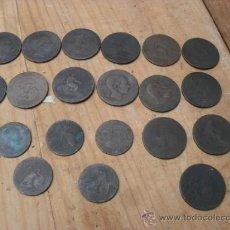 Monedas de España: LOTE MONEDAS ANTIGUAS,UNA 1860. Lote 37253928