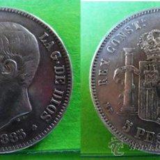 Monedas de España: ALFONSO XII 5 PESETAS 1885 *18 - 87 MP- M MBC+ AG . Lote 37317808