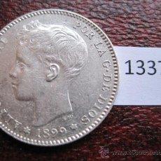 Monedas de España: ESPAÑA , 1 PESETA DE PLATA 1899 18-99 SGV , ALFONSO XIII. Lote 37448306