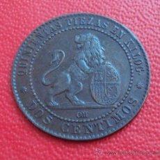 Monedas de España: 2 CENTIMOS GOBIERNO PROVISIONAL 1870 OM EBC.. Lote 37563843