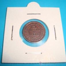 Monedas de España: MONEDA DE COBRE 1 DECIMA DE REAL ISABEL II, SEGOVIA 1852. Lote 37626320