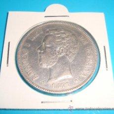 Monedas de España: MONEDA DE PLATA CINCO PESETAS AMADEO I AÑO 1871 (*18 *71) MADRID SD M ESPAÑA. Lote 37732917