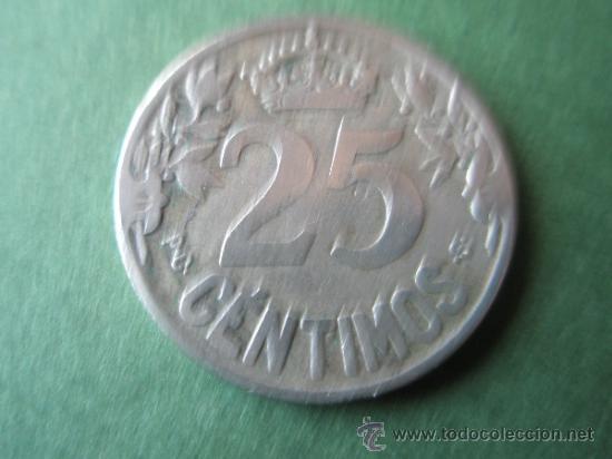 Monedas de España: +MONEDA DE ESPAÑA-25 CENTIMOS-1925-26 mm.D-. - Foto 2 - 37891980