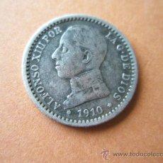 Monedas de España: -MONEDA DE ESPAÑA-50 CENTIMOS-ALFONSO XIII-PLATA-1910*1*0-18 MM.D-.. Lote 37954808