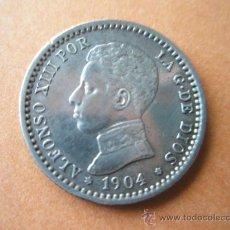Monedas de España: -MONEDA DE ESPAÑA-50 CENTIMOS-ALFONSO XIII-1904-PLATA--.. Lote 37960239