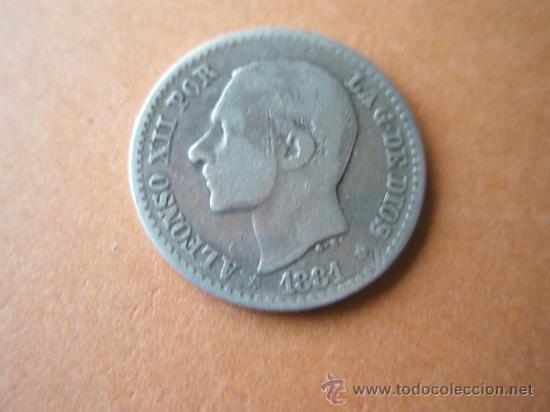 -MONEDA DE ESPAÑA-50 CENTIMOS-1881*8*1-PLATA- (Numismática - España Modernas y Contemporáneas - De Isabel II (1.834) a Alfonso XIII (1.931))