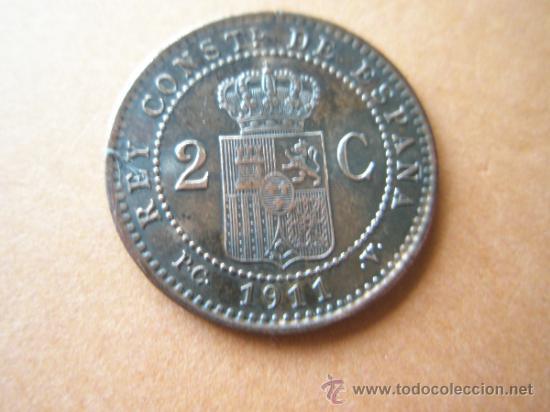 Monedas de España: -MONEDA DE ESPAÑA-2 CENTIMOS-1911*11-COBRE-PERFECTA-. - Foto 2 - 37960665