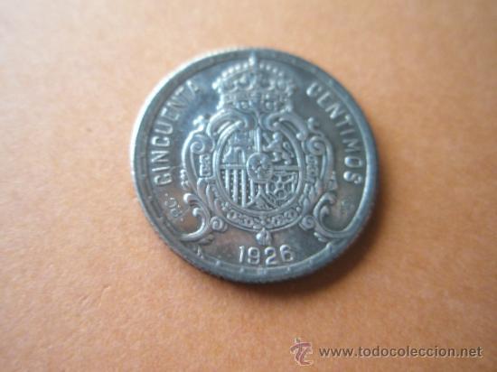 Monedas de España: -MONEDA DE ESPAÑA-50 CENTIMOS-1926-PLATA--. - Foto 2 - 37960350