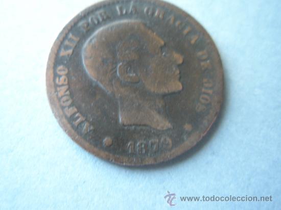 -MONEDA DE ESPAÑA-ALFONSO XII-5 CENTIMOS-1879-COBRE-. (Numismática - España Modernas y Contemporáneas - De Isabel II (1.834) a Alfonso XIII (1.931))