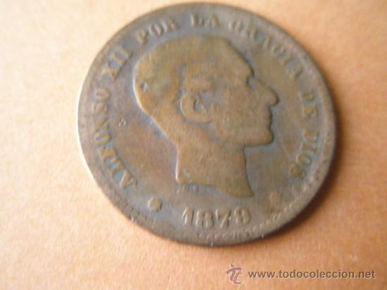 -MONEDA DE ESPAÑA-5 CENTIMOS-ALFONSO XII-1879-COBRE-. (Numismática - España Modernas y Contemporáneas - De Isabel II (1.834) a Alfonso XIII (1.931))