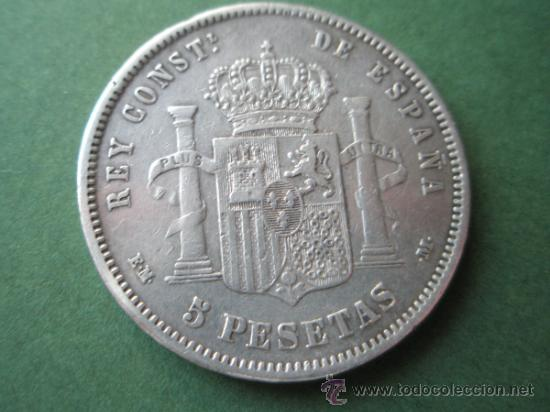 -MONEDA DE ESPAÑA-5 PESETAS-ALFONSO XII-1878*18*78-E.M.M.- Y DESCRIPCION. (Numismática - España Modernas y Contemporáneas - De Isabel II (1.834) a Alfonso XIII (1.931))