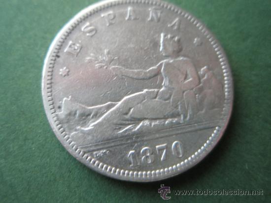 -MONEDA DE ESPAÑA-2 PESETAS-PLATA-1870*73-DE.M--. (Numismática - España Modernas y Contemporáneas - De Isabel II (1.834) a Alfonso XIII (1.931))