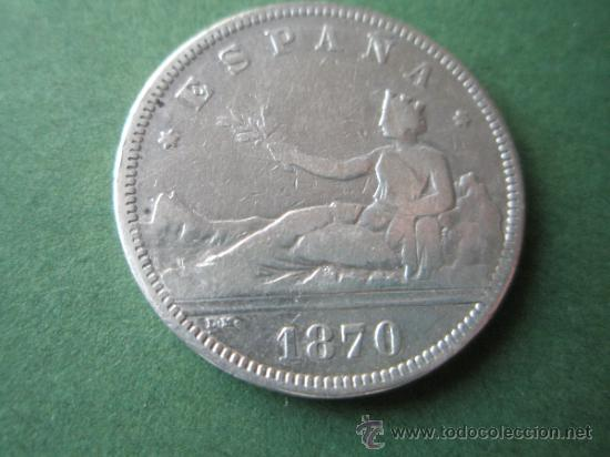 Monedas de España: -MONEDA DE ESPAÑA-2 PESETAS-PLATA-1870*73-DE.M--. - Foto 2 - 37972680