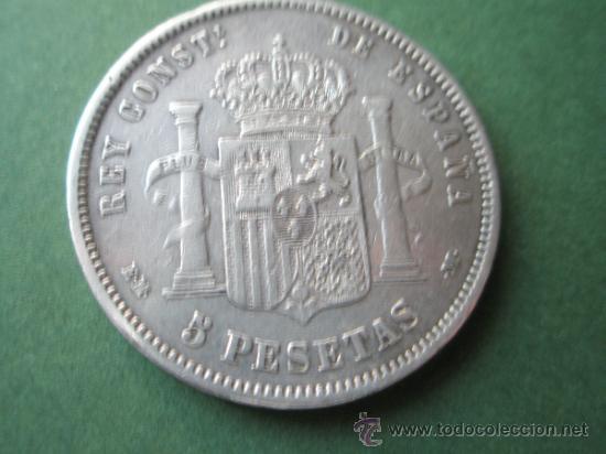 Monedas de España: -MONEDA DE ESPAÑA-5 PESETAS-ALFONSO XII-1878*18*78-E.M.M.- Y DESCRIPCION. - Foto 3 - 37972401