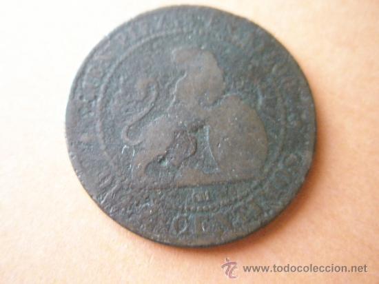 Monedas de España: -MONEDA DE ESPAÑA-10 CENTIMOS-1870-COBRE-. - Foto 2 - 37972464