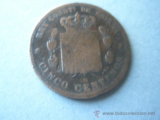 Monedas de España: -MONEDA DE ESPAÑA-ALFONSO XII-5 CENTIMOS-1879-COBRE-. - Foto 2 - 37971208