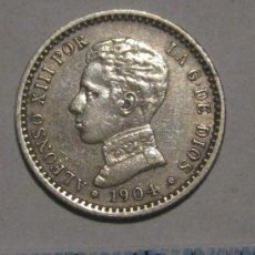 Monedas de España: 50 CENTIMOS 1904 ALFONSO XIII PLATA. Lote 37991510