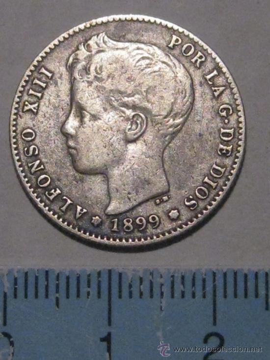 1 PESETA 1899 ALFONSO XIII PLATA (Numismática - España Modernas y Contemporáneas - De Isabel II (1.834) a Alfonso XIII (1.931))