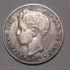 Monedas de España: 1 PESETA 1899 ALFONSO XIII PLATA. Lote 37991535