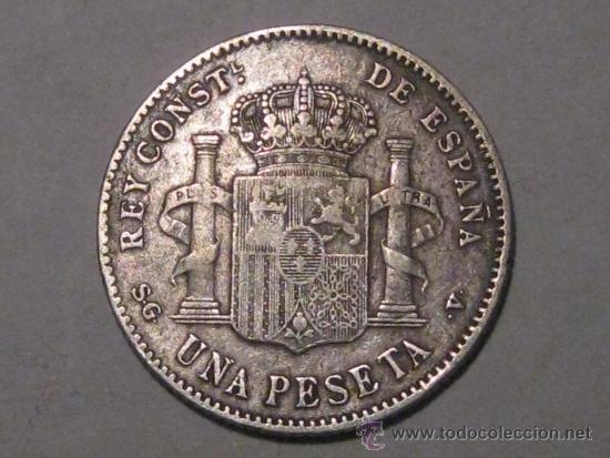 Monedas de España: 1 PESETA 1899 ALFONSO XIII PLATA - Foto 2 - 37991535