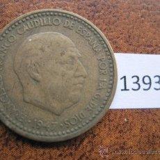 Monedas de España: ESPAÑA , 1 PESETA 1947 - 56 , FRANCO , FRANQUISMO. Lote 38046395