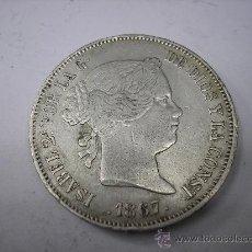 Monete da Spagna: 2 ESCUDOS DE PLATA DE 1867. CECA DE MADRID. REINA ISABEL II. Lote 38138464