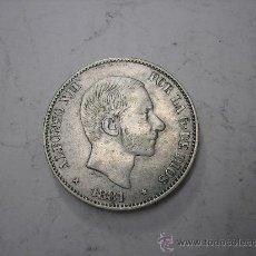 Monedas de España: 50 CENTAVOS DE PESO DE FILIPINAS. REY ALFONSO XII DE 1881. Lote 38217227