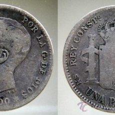 Monedas de España: MONEDA 1 PESETA, PLATA, ALFONSO XIII, MADRID, AÑO 1900.. Lote 38301065