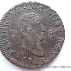 Monedas de España: 8 MARAVEDIS 1815 JUBIA FERNANDO VII - PERFECTA. Lote 38353692